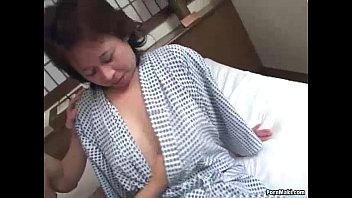 Asian mature women fucking Asian granny enjoys threesome fucking