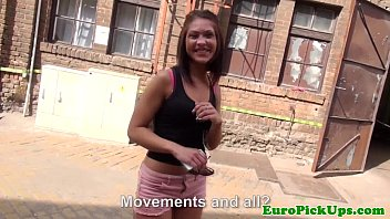 Pulled eurobabe gagging strangers cock