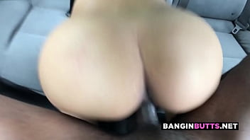 Big ass asian cumslut rides black dick for creampie
