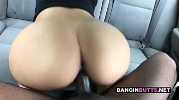 Big ass asian cumslut rides black dick for creampie