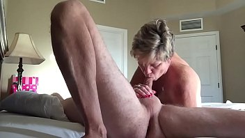 friend gets a nice blowjob from my wife and he fucks her doggystyle