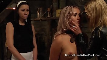 Lesbian behaviour characteristic Submissive lesbian slave undressed and whipped by dominant madame