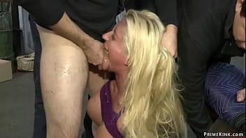 Huge tits blonde public humiliated