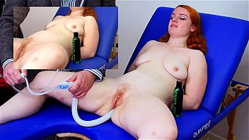 Red head bondage - Miss fi takes a huge enema with the hard colon snake