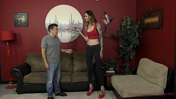 Sexy groin tattoos women - 6 foot 3 rocky emerson dominates her short roomate - femdom ass worship