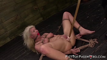 Gagged Slut Gets Roped Down And Roughly Penetrated