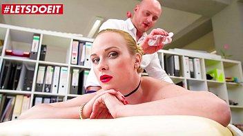 LETSDOEIT - Office Massage Sex With Horny Czech Blondie Vinna Reed