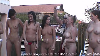 real full nude frat house backyard strip contest these girls will be pissed