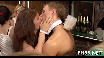 Porn from mass Tons of oral pleasure from blondes and massing group sex at night club
