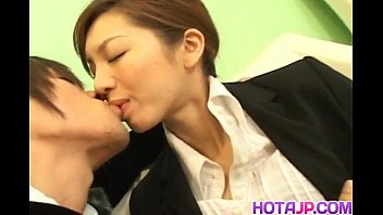 Asahi Miura Asian secretary gives amazing headfucking in the break room 10 min