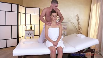 Massage Rooms Hot French babe Tiffany rides big cock before creampie thumbnail