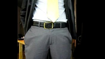 Afterwork Jerk-Off In Businessman Attire