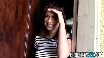 PropertySex - Tenant with amazing big tits busted for porn torrents thumbnail