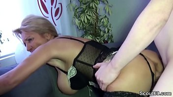 Step-son with a huge dick gets a fuck from mom