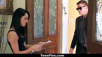 TeenPies - Brunette Teen (Sabrina Banks) Gets Fucked And Filled By Her Landlord!