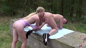 Echtes Berliner Paar Dreht Eigenen Outdoor Porno - German Couple