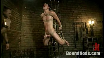 House dom Christian Wilde torments his new slave with whips, wax and cock