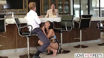 LoveHerFeet - Passionate Sex With Hot Brunette Amia Miley Behind Her Boyfriends Back 13 min