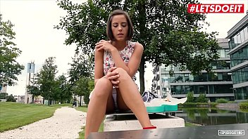 VIP SEX VAULT - Petite Brunette Teen Cums Hard At Casting