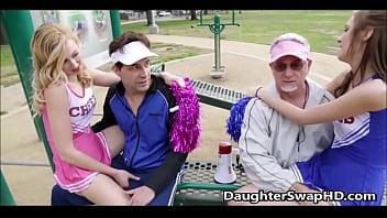 Sexy blonde cheerleader fucks - Teen cheerleaders dads agree to swap daughters - daughterswaphd.com