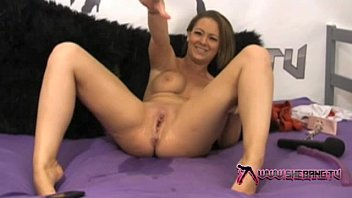 Sexy tv model - Shebang.tv - sexy crystal pink squirting on the pink bed