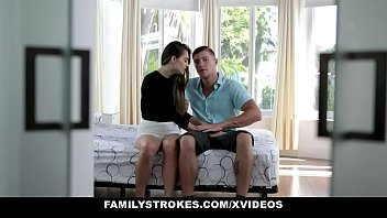 FamilyStrokes - Cute Stepsis Deepthroats Me While Dad's Gone