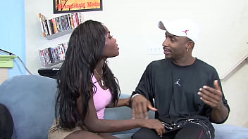 Ebony slut takes a huge black cock in the ass