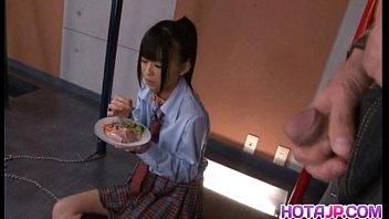 Chika Ishihara licks hard cock 10 min