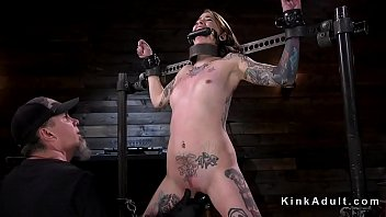 Tattooed brunette vibed and fingered