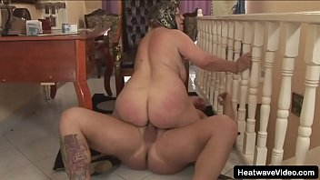 Granny with saggy tits fucked by younger tattooed stud