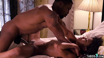 All natural ebony babe Demi Sutra presenting how to handle a big black cock