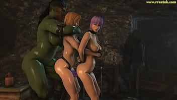 DOA5 females getting fucked hard by ugly monsters 3D Porn