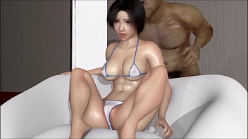 Cute girl double bang Hentai