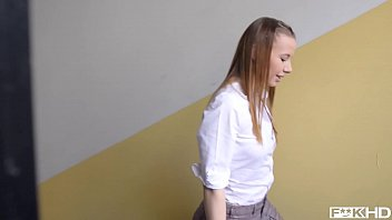 Teacher gets to bang his favorite student Olivia Grace's tight teen pussy 12 min