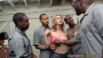Edyn Blair Sucks Horny Black Mechanics To Pay The Bill