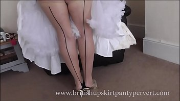 Free streaming british milf - Upskirt and petticoats 64yr old british milf housewife in stockings shows her panties