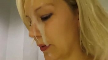Beginner cum shots Facial cum shot in the store changing rooms - nudehornycams.com