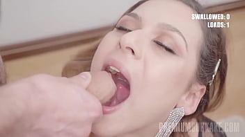 PremiumBukkake - Bella Rico swallows 58 huge mouthful cumshots 11 min