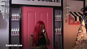 Redhead Barbie Squirts & Shoots Flames from Her Pussy For King Noire (Trailer)