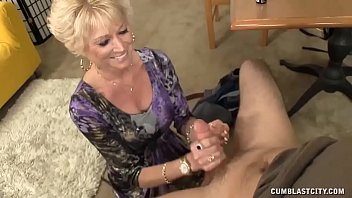 Mother son handjob Step-mom always wanted to offer him a handjob
