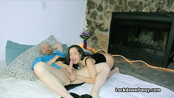 Oily fingering and blowjob in lock down
