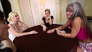 Family Strip Poker Game With Mom, Brother, and Sister thumbnail