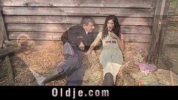 Slutty Countryside Girl Sucking And Fucking Farmer's Dick