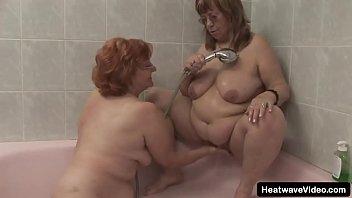 Fat grandmas enjoy a steamy spa