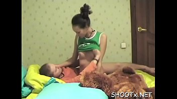 Amateur movie with erotic couple getting sweaty in bed