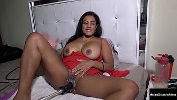 Big Boobed Maxine X In A Solo With A Fuck Machine And A 24 Inch Dildo!