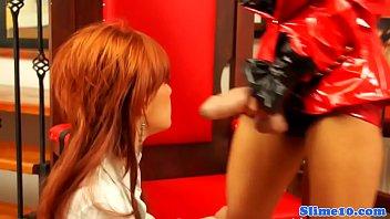 Redhead euro dominated by bukkake femdom