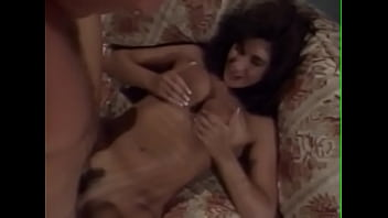 Cute brunette babe with big natural jugs is not against to swallow her lover's jizz after good anal and vaginal penetration