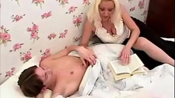 Slutty Step Mom Reading Bedtime Story For Her Son