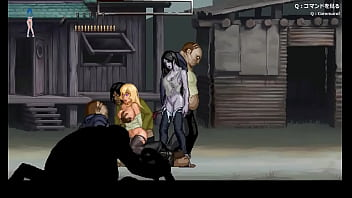 Pretty blonde girl having sex with zombies men in Parasite in City hentai act game new gameplay